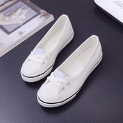 Canvas Shallow Mouth Pure Color Lace Up Flat Casual Shoes