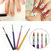 4Pcs Multicolor Nail Art Design Painting Drawing Dotting Brush Tools