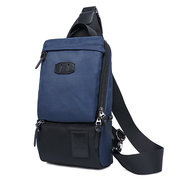 Men Oxford Nylon Outdoor Chest Bag Sports Shoulder Bags