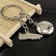 World Cup Soccer Shoe Pendant Silver Keychain
