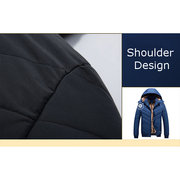 Winter Casual Outdoor Thicken Warm Detachable Hooded Jacket for Men