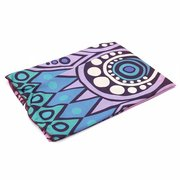 Gradient Color Round Beach Towel Cotton Scarf Shawl Yoga Mat Tapestry Wall Hanging