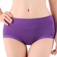 Women Sexy Seamless Soft Cotton Panties Elastic Mid Waist Underwear