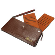 Men Business Casual Large Capacity Wallet Leisure Long Cash Cards Holder Purse