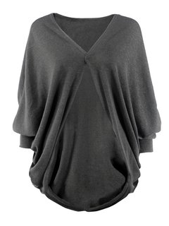 Women Casual Bat Sleeve Loose Pure Color Cardigans