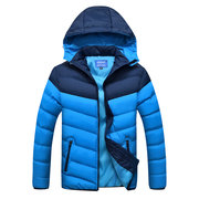 Outdoor Casual Thicken Warm Stitching Detachable Hood Winter Padded Jacket for Men
