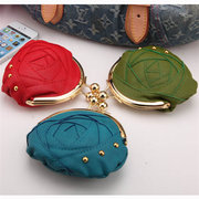 Women Stylish Joint Candy Color Small Coins Bags Wallet Card Bags