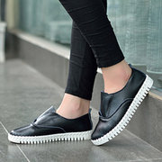 Leather Comfortable Pure Color Flat Loafers