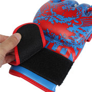 Men's PU Leather Training Grappling UFC Boxing Fight Punch Mitts MMA Sanda Gloves