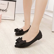 Butterflyknot Candy Color Light Soft Pointed Toe Slip On Flat Shoes