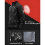 Military Style Outdoor Breathable Softshell Waterproof Personality Jacket For Men