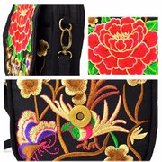 Woman Retro Shoulder Bag Canvas Chinese Style Phone Bag Little Bag For Woman