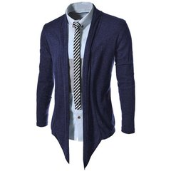 Spring Autunm Cardigan Men's Casual Pull Style Long Sleeve Cotton Coat Cardigan