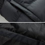 Зимний спорт сгущает утка вниз куртка цвета контраста Съемные Hat ватник для мужчин
