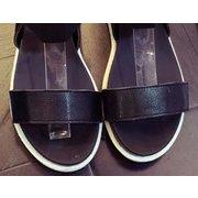 Pure Color Peep Toe Color Match поскользнуться на Elastice плоские сандалии