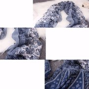 Women Cotton Soft Shawl Retro National Style Tassel Wrap Long Scarf Stole