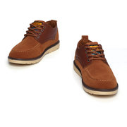 Men Suede British Style Breathable Color Match Casual Lace Up Shoes