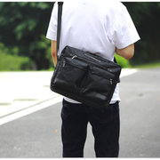 Men Polyester Nylon Crossbody Bag Outdoor Casual Shoulder Bag