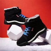 Suede Winter Hook Loop Warm Fur Lining Lace Up Casual Boots