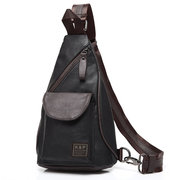 Men PU Waterproof Crossbody Bag Capacity Leisure Shoulder Bag Chest Bag
