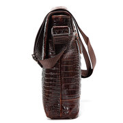 Men Business Genuine Leather Vintage Alligator Pattern Shoulder Bag Messenger Bag Crossbody Bags