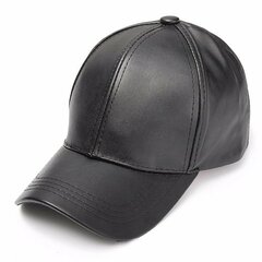 Men Women Soft Leather Baseball Cap Biker Trucker Adjustable Outdoor Sports Hats