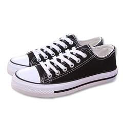 Men And Women Lovers Canvas Candy Color Lace Up Casual Shoes