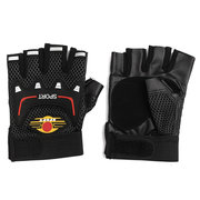 Leather Weightlifting Gloves Gym Straps Wrist Support Wraps Cycling Gloves