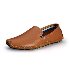 Big Size Men Soft Slip On Leather Moccasins Breathable Driving Loafers