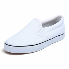 Big Size Pure Color Canvas Flat Slip On Casual DIY Hand Painted Loafers
