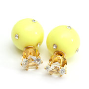 Candy Color Pearl Crystal Earrings