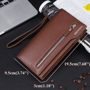 Men Universal 5.5in Mobile Phones Purse Pu Leather Wallet Card Holder For iPhone Samsung Xiaomi Sony