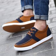Men Sport Color Match Breathable Recreational Casual Shoes