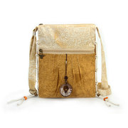Women Dacron Chinese National Style Wood Pendant Crossbody Bags Shoulder Bags