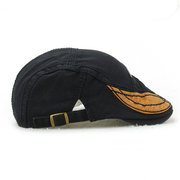 Men Retro Cotton Beret Cap Casual Outdoor Sun Visor Forward Hat
