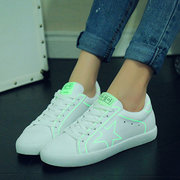 Star Lace Up Light Up Fluorescence Color Match Sport Shoes
