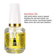 15ml Soak Off Base Coat Softener Calcium Nutrition Oil Nail Art Topcoat 4 Types