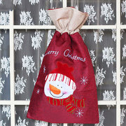 Christmas Cotton Red Decoration Storage Bags