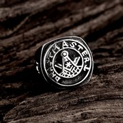 Vintage Punk Lettering Pattern Stainless Steel Ring for Man