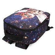 Stylish Creative Polyester Cat Starry Sky Large Capacity Laptop Bag Backpack