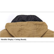 Casual Fashion Business Trench Coat Washed Slim Detachable Hood Jacket For Men
