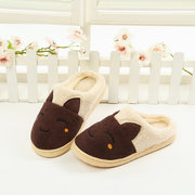 Cute Rabbit Warm Indoor Flat Home Shoes Bunny Slippers