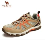 Camel Men Women Lover Mesh Breathable Wearproof Anti Skip Lace Up Outdoor Sport Hiking Shoes