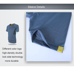 Mens Breathable Sports Quick dry Outdoor Solid Color Round Neck Short Sleeved T-shirts