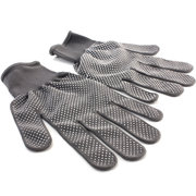 1 Pair Heat Resistant Glove Hair Straightener Perm Curling Hairdressing Hand Protector White Dot