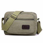 Ретро Прочный Crossbody сумка Повседневная Холст площади сумки на ремне для человека
