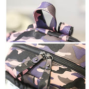 Women School Cute Bag Glass Creative Backpack Shoulder Bags Rivet Double Zipper Bags
