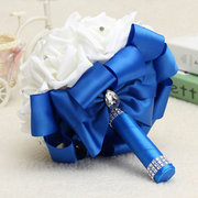 22 Heads Roses Crystal Artificial Flower Home Wedding Bride Bouquet Party Decoration