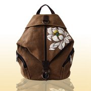 Women Chinese Style Retro Shoulder Bag Canvas Flower Backpack