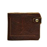 Мужчины Ретро Подлинная сумки из кожи Короткие бумажник карты держатель